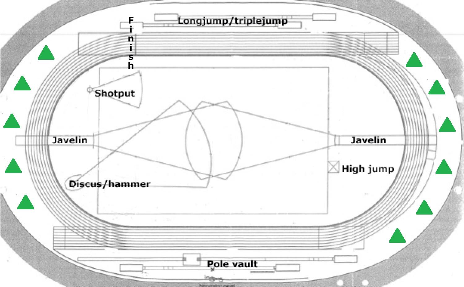 plattegrond stadion site